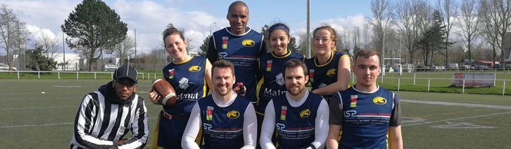 L'équipe séniors de flag football des Spartiates d'Amiens