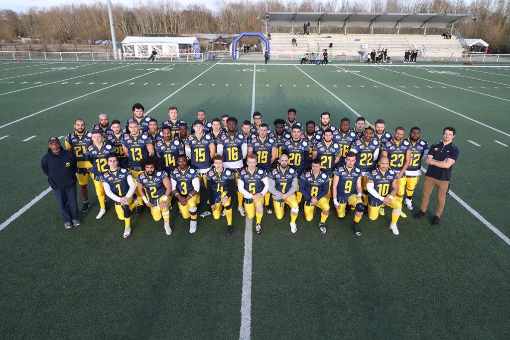 L'équipe première sénior des Spartiates d'Amiens en 2019